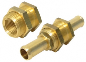Water System Connectors:  Brass Bulkhead Connector